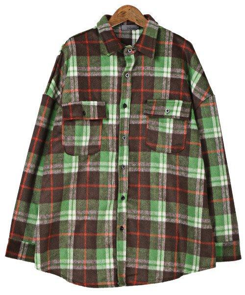 LUXSTYLE(ラグスタイル)/ビッグシルエットネルシャツ/シャツ メンズ 長袖 ネルシャツ ビッグシルエット/pm-8883_img06