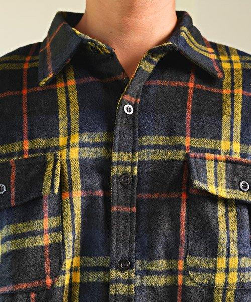 LUXSTYLE(ラグスタイル)/ビッグシルエットネルシャツ/シャツ メンズ 長袖 ネルシャツ ビッグシルエット/pm-8883_img07