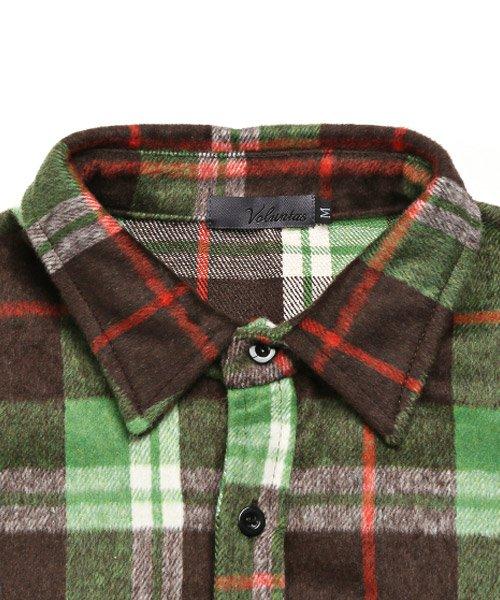 LUXSTYLE(ラグスタイル)/ビッグシルエットネルシャツ/シャツ メンズ 長袖 ネルシャツ ビッグシルエット/pm-8883_img10