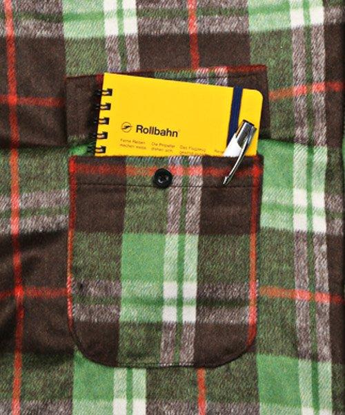 LUXSTYLE(ラグスタイル)/ビッグシルエットネルシャツ/シャツ メンズ 長袖 ネルシャツ ビッグシルエット/pm-8883_img11
