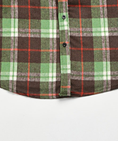 LUXSTYLE(ラグスタイル)/ビッグシルエットネルシャツ/シャツ メンズ 長袖 ネルシャツ ビッグシルエット/pm-8883_img14