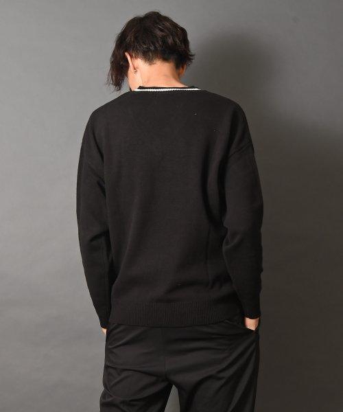 revenil(ルヴニール)/KANGOL チルデンニットVネック襟リブラインセーター/625210_img03