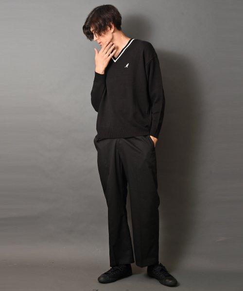 revenil(ルヴニール)/KANGOL チルデンニットVネック襟リブラインセーター/625210_img04