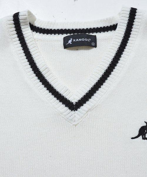 revenil(ルヴニール)/KANGOL チルデンニットVネック襟リブラインセーター/625210_img08