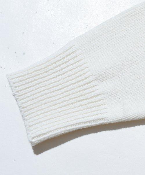 revenil(ルヴニール)/KANGOL チルデンニットVネック襟リブラインセーター/625210_img10