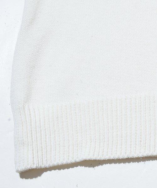 revenil(ルヴニール)/KANGOL チルデンニットVネック襟リブラインセーター/625210_img11
