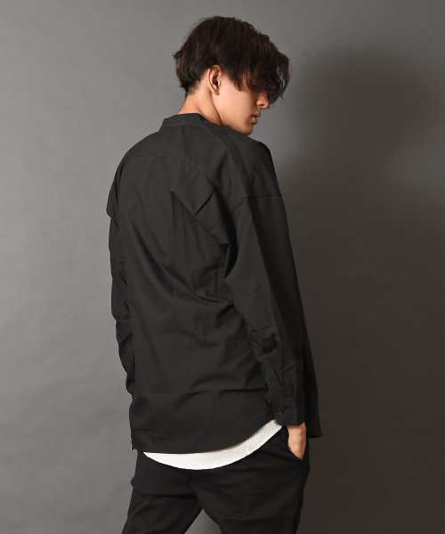 revenil(ルヴニール)/オーバーサイズバンドカラー長袖シャツ/625333_img03