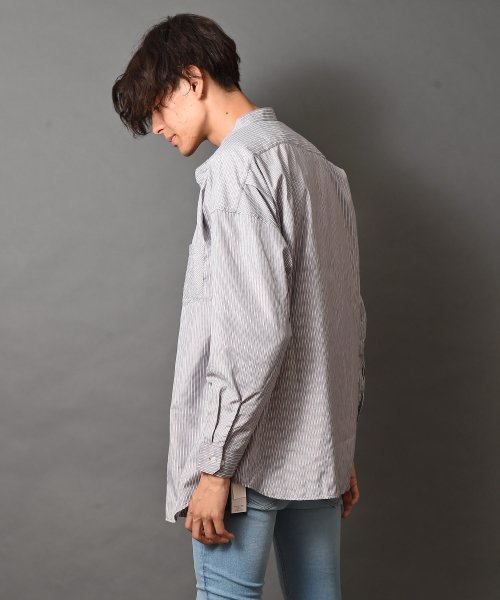 revenil(ルヴニール)/オーバーサイズバンドカラー長袖シャツ/625333_img08