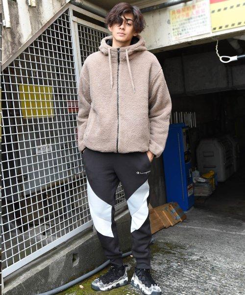 revenil(ルヴニール)/ボアフリースZIP長袖リバーシブル薄中綿ビッグパーカー/625339_img02