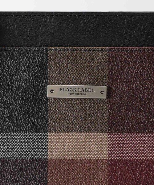 BLACK LABEL CRESTBRIDGE(BLACK LABEL CRESTBRIDGE)/ダークレッドチェック PVC トート/51121207--_img04
