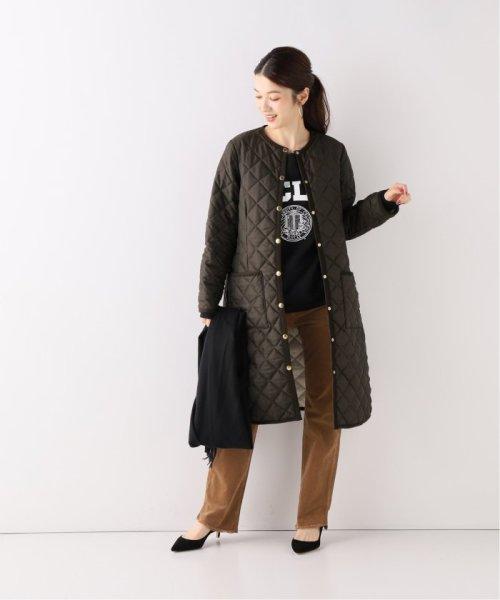 Spick & Span(スピック&スパン)/【Traditional Weatherwear】別注キルティングノーカラーロングコート/19020210000930_img01