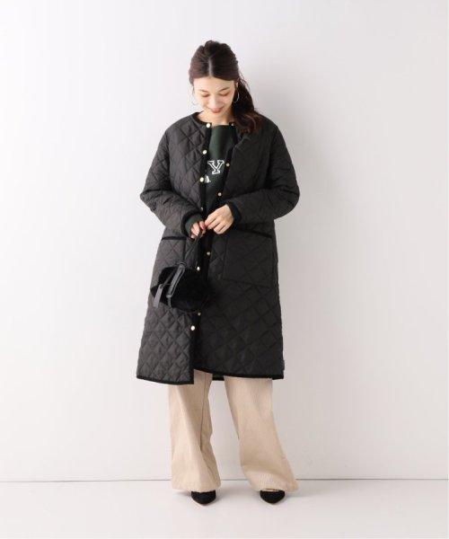 Spick & Span(スピック&スパン)/【Traditional Weatherwear】別注キルティングノーカラーロングコート◆/19020210001130_img01