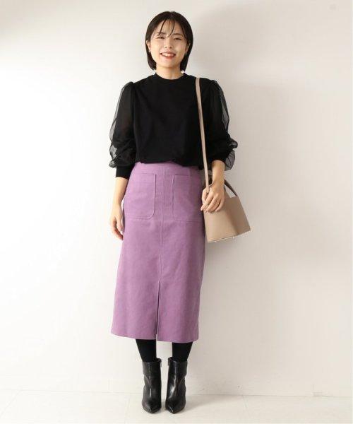 Spick & Span(スピック&スパン)/≪予約≫フェイクスウェードタイトスカート◆/19060200904130_img02