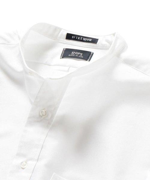 SHIPS MEN(シップス メン)/SHIPS×IKE BEHAR: アメリカ製 オックスフォード バンドカラー シャツ/111135564_img03