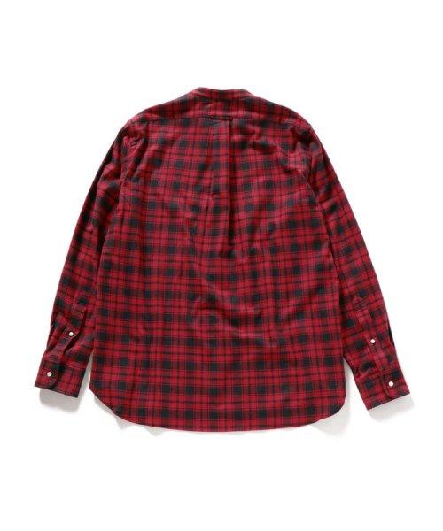 SHIPS MEN(シップス メン)/SHIPS×IKE BEHAR: アメリカ製 バッファローチェック バンドカラー ネルシャツ/111180095_img02