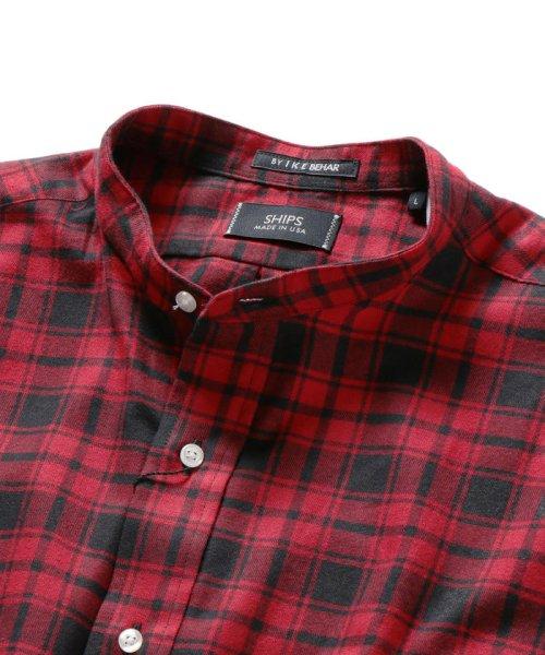 SHIPS MEN(シップス メン)/SHIPS×IKE BEHAR: アメリカ製 バッファローチェック バンドカラー ネルシャツ/111180095_img03