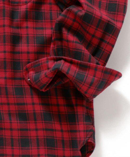 SHIPS MEN(シップス メン)/SHIPS×IKE BEHAR: アメリカ製 バッファローチェック バンドカラー ネルシャツ/111180095_img04