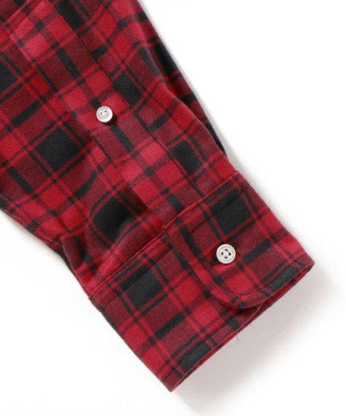 SHIPS MEN(シップス メン)/SHIPS×IKE BEHAR: アメリカ製 バッファローチェック バンドカラー ネルシャツ/111180095_img05