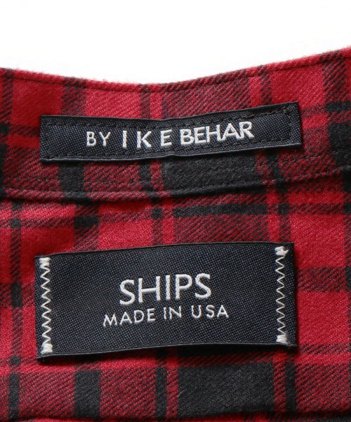 SHIPS MEN(シップス メン)/SHIPS×IKE BEHAR: アメリカ製 バッファローチェック バンドカラー ネルシャツ/111180095_img07