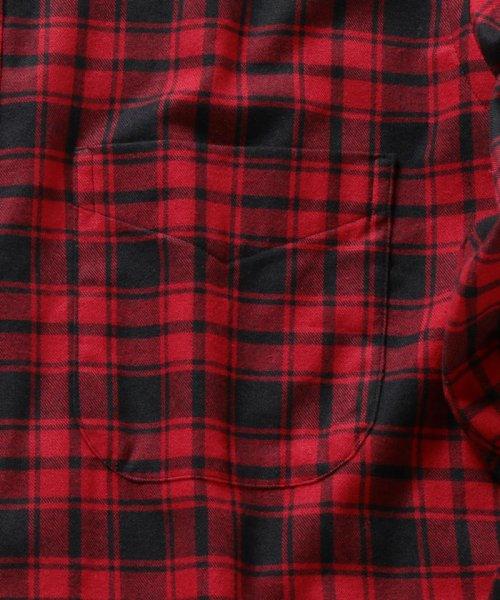 SHIPS MEN(シップス メン)/SHIPS×IKE BEHAR: アメリカ製 バッファローチェック バンドカラー ネルシャツ/111180095_img08