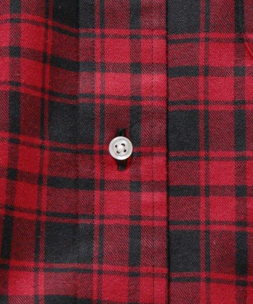 SHIPS MEN(シップス メン)/SHIPS×IKE BEHAR: アメリカ製 バッファローチェック バンドカラー ネルシャツ/111180095_img09