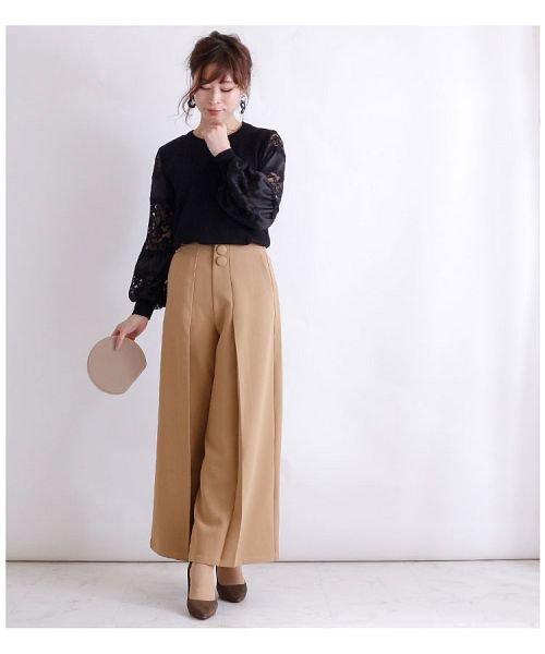 Sawa a la mode(サワアラモード)/袖レースニットトップス/mode-5041_img06