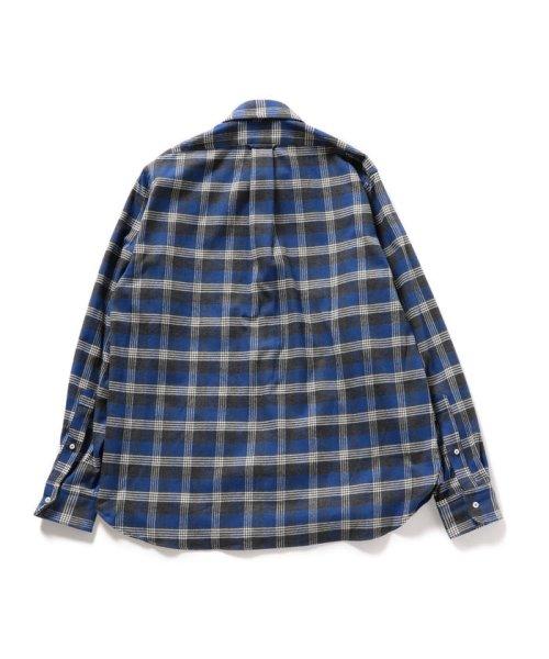 SHIPS MEN(シップス メン)/SHIPS×IKE BEHAR: アメリカ製 ブルーチェック ラウンドカラー ネルシャツ/111180096_img02