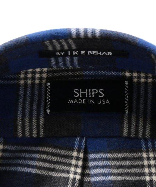 SHIPS MEN(シップス メン)/SHIPS×IKE BEHAR: アメリカ製 ブルーチェック ラウンドカラー ネルシャツ/111180096_img07
