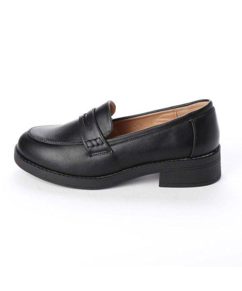 AAA PLUS feminine(サンエープラスフェミニン)/SFW サンエープラスフェミニン AAA? feminine おじ靴'マニッシュコインローファー/3571 (ブラック)/AA2911BW00042_img01