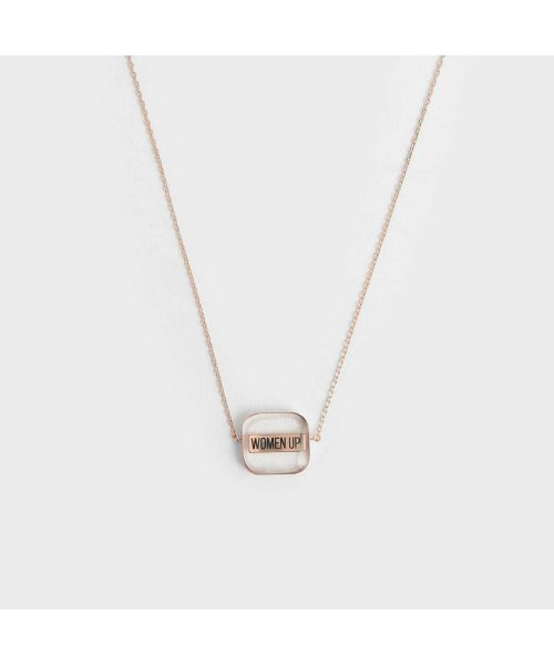 CHARLES & KEITH(チャールズ アンド キース)/【2019 WINTER 新作】WOMEN UP!  アクリルネックレス / WOMEN UP! Acrylic Necklace (Rose Gold)/CH1328DW13563_img01