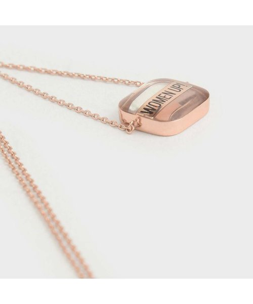 CHARLES & KEITH(チャールズ アンド キース)/【2019 WINTER 新作】WOMEN UP!  アクリルネックレス / WOMEN UP! Acrylic Necklace (Rose Gold)/CH1328DW13563_img02