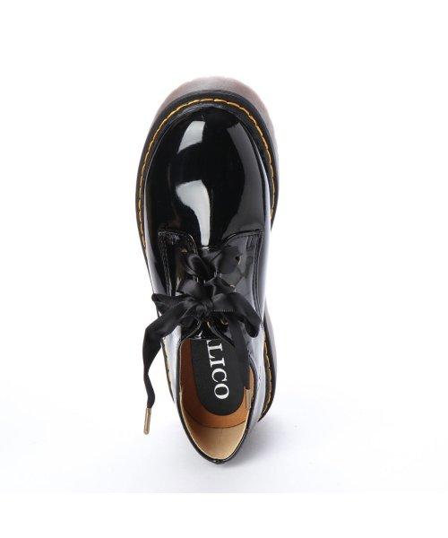 ITALICO(イタリコ)/イタリコ ITALICO ホールレースアップ厚底ブーツ (ブラックエナメル)/IT4173BW01276_img03