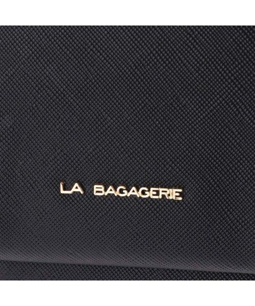 LA BAGAGERIE(ラ バガジェリー)/ラ バガジェリー LA BAGAGERIE 型押しレザー お財布ショルダー (ブラック)/LA1508AW12590_img05