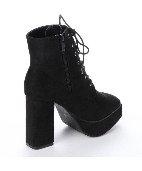 Mafmof(マフモフ)/マフモフ Mafmof Mafmof(マフモフ) BLACKスクエアトゥのショートブーツ (ブラック・スエード)/M05299BW02530_img02