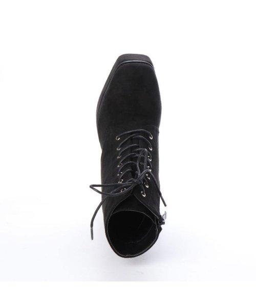 Mafmof(マフモフ)/マフモフ Mafmof Mafmof(マフモフ) BLACKスクエアトゥのショートブーツ (ブラック・スエード)/M05299BW02530_img03