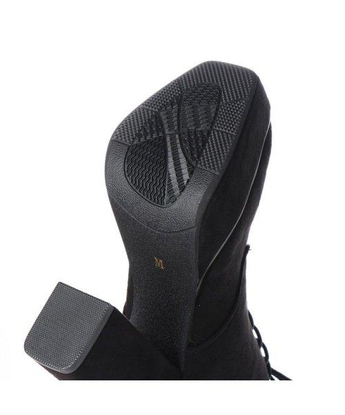 Mafmof(マフモフ)/マフモフ Mafmof Mafmof(マフモフ) BLACKスクエアトゥのショートブーツ (ブラック・スエード)/M05299BW02530_img04