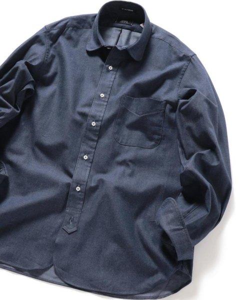 SHIPS MEN(シップス メン)/SHIPS×IKE BEHAR: アメリカ製 デニムトーン ラウンドカラー シャツ/111135567_img01