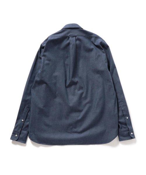 SHIPS MEN(シップス メン)/SHIPS×IKE BEHAR: アメリカ製 デニムトーン ラウンドカラー シャツ/111135567_img02