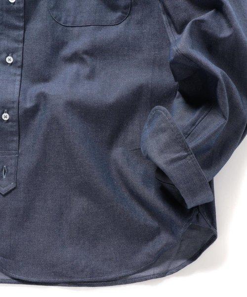 SHIPS MEN(シップス メン)/SHIPS×IKE BEHAR: アメリカ製 デニムトーン ラウンドカラー シャツ/111135567_img04