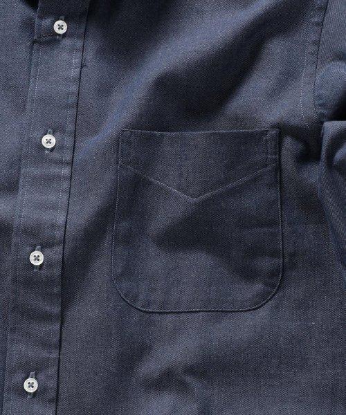 SHIPS MEN(シップス メン)/SHIPS×IKE BEHAR: アメリカ製 デニムトーン ラウンドカラー シャツ/111135567_img07