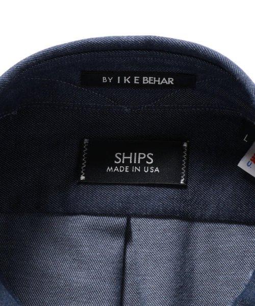 SHIPS MEN(シップス メン)/SHIPS×IKE BEHAR: アメリカ製 デニムトーン ラウンドカラー シャツ/111135567_img08