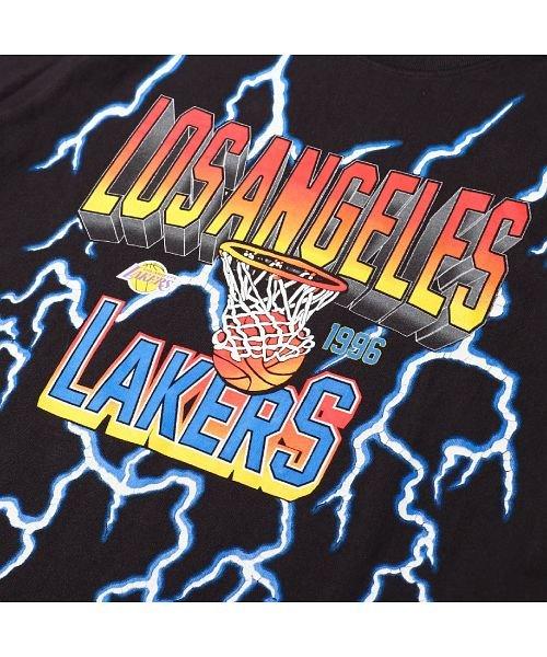 Mitchell&Ness(Mitchell&Ness)/ミッチェルアンドネス ライトニング Tシャツ/ロサンゼルス レイカーズ/ssteef18012-lal_img03