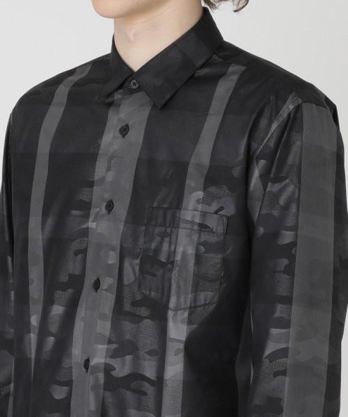 BLACK LABEL CRESTBRIDGE(BLACK LABEL CRESTBRIDGE)/【BLACK lab.】クレストブリッジチェックエンボスカムフラージュシャツ/51M40240--_img03