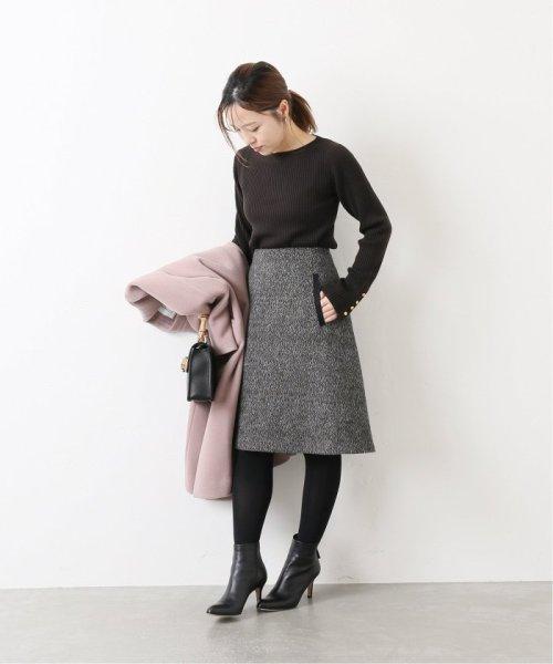 La TOTALITE(ラ トータリテ)/レオパードジャガード台形スカート/19060140526040_img01