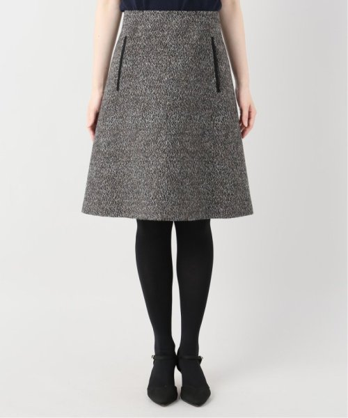 La TOTALITE(ラ トータリテ)/レオパードジャガード台形スカート/19060140526040_img05