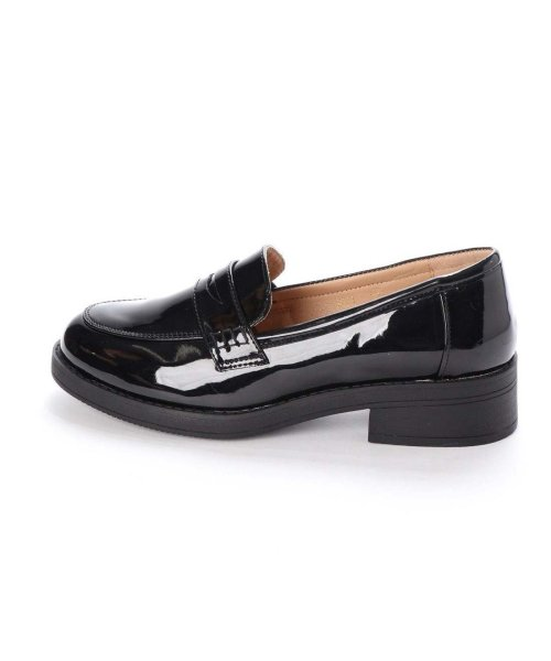 AAA PLUS feminine(サンエープラスフェミニン)/SFW サンエープラスフェミニン AAA? feminine おじ靴'マニッシュコインローファー/3571 (ブラックエナメル)/AA2911BW00043_img01