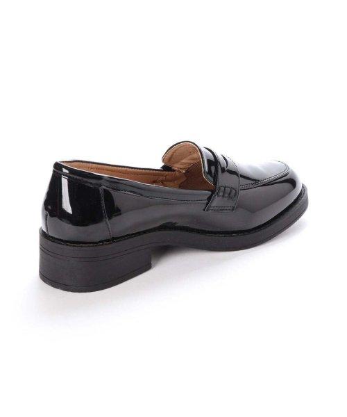 AAA PLUS feminine(サンエープラスフェミニン)/SFW サンエープラスフェミニン AAA? feminine おじ靴'マニッシュコインローファー/3571 (ブラックエナメル)/AA2911BW00043_img02