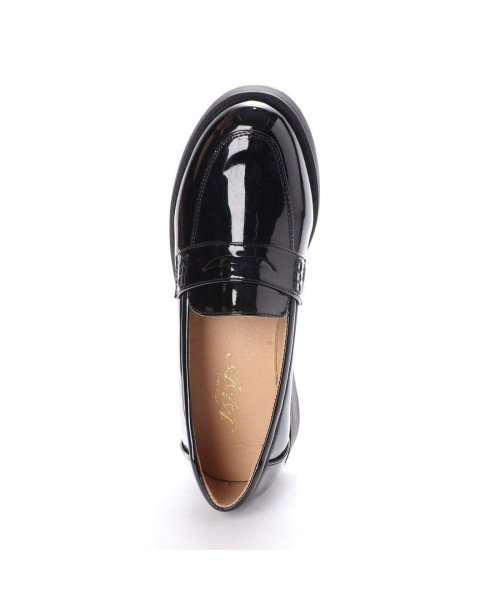 AAA PLUS feminine(サンエープラスフェミニン)/SFW サンエープラスフェミニン AAA? feminine おじ靴'マニッシュコインローファー/3571 (ブラックエナメル)/AA2911BW00043_img03