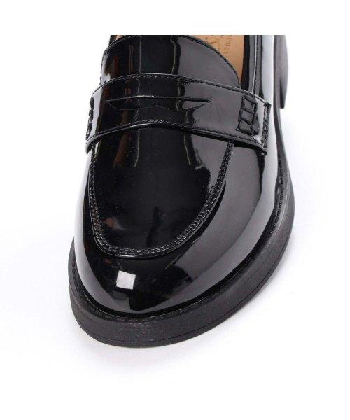 AAA PLUS feminine(サンエープラスフェミニン)/SFW サンエープラスフェミニン AAA? feminine おじ靴'マニッシュコインローファー/3571 (ブラックエナメル)/AA2911BW00043_img05
