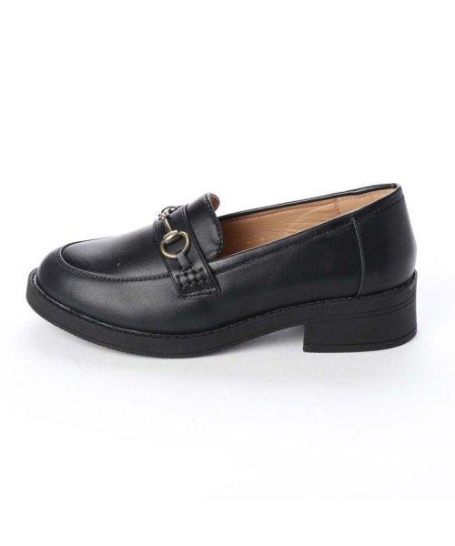 AAA PLUS feminine(サンエープラスフェミニン)/SFW サンエープラスフェミニン AAA? feminine おじ靴'マニッシュビットローファー/3572 (ブラック)/AA2911BW00044_img01